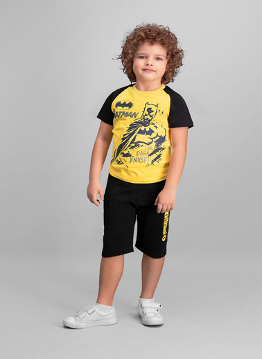 Batman Batman Lisanslı Erkek Çocuk Kapri Takım Sarı